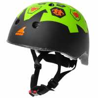 Rollerblade Twist Cycle Helmet Junior Boys Black/Lime Скейт аксесоари