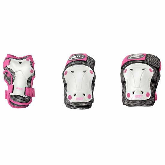 Roces Protective Skate Pads Junior Girls White/Pink Скейт аксесоари