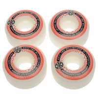 Zukie Replacement Skateboard Wheels White/Red 52mm Скейтборд