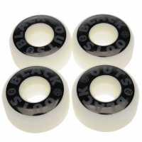 Zukie Replacement Skateboard Wheels Black/White 53m Скейтборд