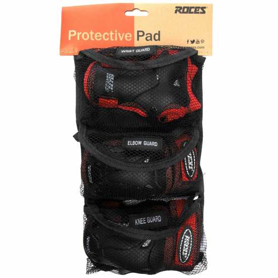Roces Vent Pro Pads Junior Black/Red Скейт аксесоари