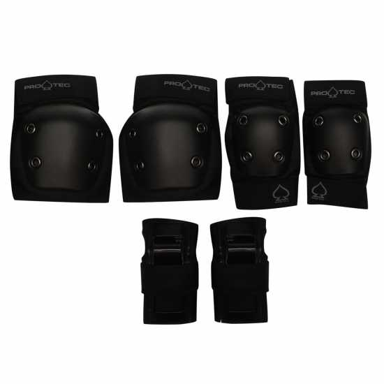 Protec Street Pads Set Juniors Black Скейт аксесоари