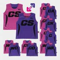 Slazenger Reversible Bibs Pink/Purple Нетбол