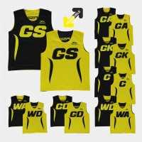 Slazenger Reversible Bibs Yellow/Black Нетбол