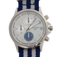 Hot Tuna Мъжки Часовник Stripe Watch Mens Blue Бижутерия