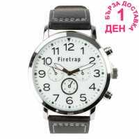 Crafted Essentials Мъжки Часовник Aviator Watch Mens Black Бижутерия