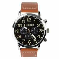 Crafted Essentials Мъжки Часовник Aviator Watch Mens Brown Часовници