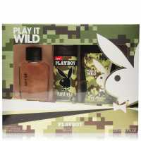 Playboy Play It Wild Eau De Toilette 3 Piece Set Mens Play It Wild Подаръци и играчки