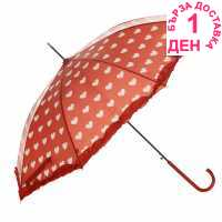 Susino Heart Umbrella Red/Black Чадъри
