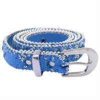 Hoi Holloi Polloi Sequin Belt Ladies Blue Колани