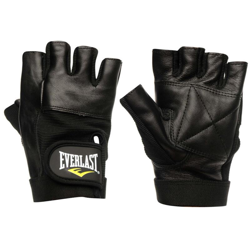 60533f858f5 Everlast Кожени Фитнес Ръкавици Leather Fitness Gloves Black Боксов фитнес  и хронометри