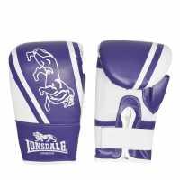 Lonsdale Club Bag Mitts Purple/White Боксови ръкавици
