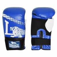 Lonsdale Club Bag Mitts Blue/Wht/Blk Боксови ръкавици