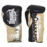 Sale Lonsdale L60 Fight Gloves Unisex Adults Black/Gold Боксови ръкавици