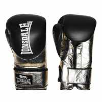 Lonsdale L60 Hook And Loop Training Gloves Unisex Adults Black/Gold Боксови ръкавици