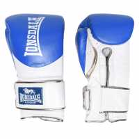 Lonsdale L60 Hook And Loop Training Gloves Unisex Adults Blue/Gold Боксови ръкавици