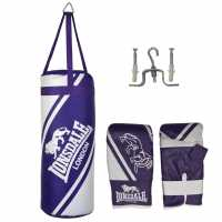 Lonsdale Club Junior Punch Bag And Boxing Gloves Set Pink/Grey Комплекти боксови круши и ръкавици