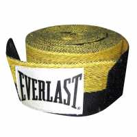 Everlast Herringbone Handwrap Black/Yellow Боксови бинтове за ръце и ленти