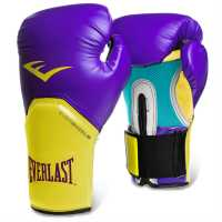 Everlast Elite Training Gloves Purple/yellow Боксови ръкавици