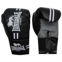 Lonsdale Contender Boxing Gloves Black Боксови ръкавици