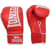 Lonsdale Challenger Boxing Gloves Red Боксови ръкавици