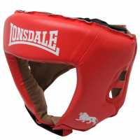 Lonsdale Challenger Head Guard Red Боксови протектори за глава