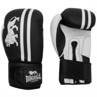 Lonsdale Club Sparring Gloves Black/White Боксови ръкавици