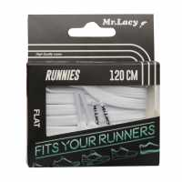 Mr Lacy Runnies Flat White Връзки за обувки