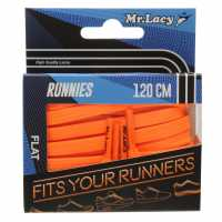 Mr Lacy Runnies Flat Bright Orange Връзки за обувки