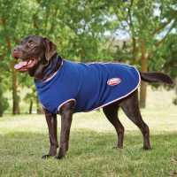 Weatherbeeta Zip Dog Coat Navy/Red/Wht Магазин за домашни любимци