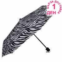 Dunlop Сгъваем Чадър Folding Umbrella Zebra Чадъри