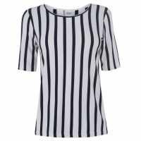 Jdy Navy Striped Blouse Cloud Dancer Дамски ризи и тениски