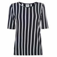 Jdy Navy Striped Blouse Navy Blazer Дамски ризи и тениски