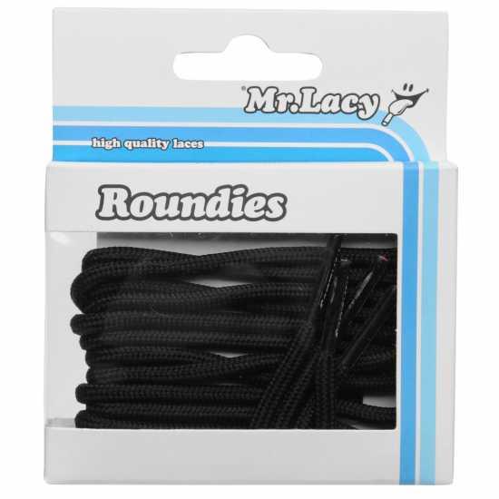 Mr Lacy Roundies Black Връзки за обувки