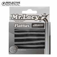 Mr Lacy Flatties Reflective Black Reflect Връзки за обувки
