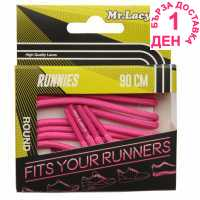 Outdoor Equipment Mr Lacy Runnies Round Lipstick Pink Връзки за обувки