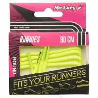 Outdoor Equipment Mr Lacy Runnies Round Neon Yellow Връзки за обувки