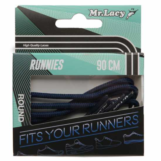 Mr Lacy Runnies Round Navy Връзки за обувки