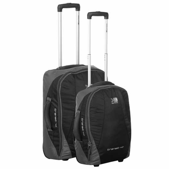 Karrimor Куфар С Колелца Transit Wheel Suitcase Set Black/Silver Сакове
