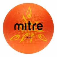 Mitre Oasis Netball Ball Orange Нетбол