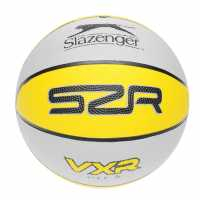 Slazenger Vxr Basketball 00 Grey/Yellow Баскетболни топки