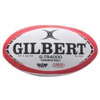 Gilbert Gtr4000 Rugby Training Ball White/Red Ръгби