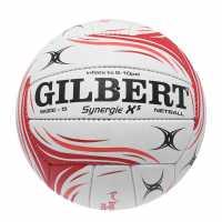 Gilbert Synergie X5 Official Match Netball Red/White Нетбол