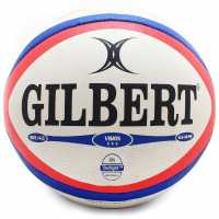 Sale Gilbert Photon Rugby Ball White/Red Ръгби
