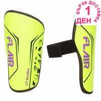Sondico Flair Slip Shinguards Fluo Yellow Футболни аксесоари
