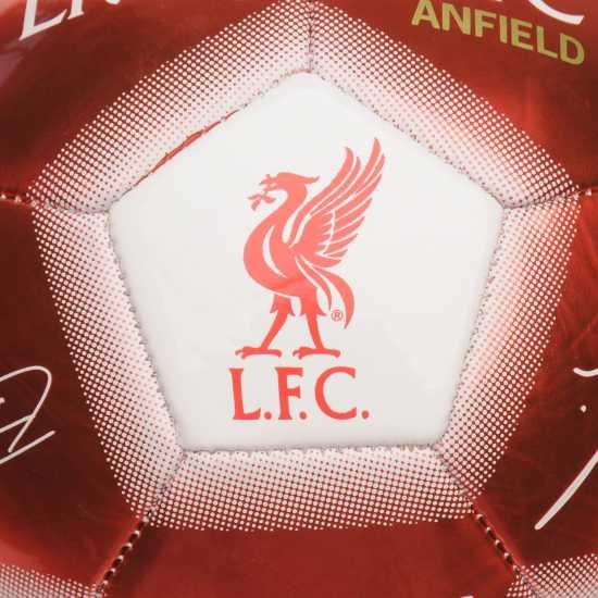 Team Футболна Топка С Автограф Signature Football Liverpool Футболни топки