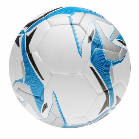 Mitre Футболна Топка Astro Division Football White/Blue Футболни топки