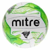 Mitre Футболна Топка Division Football White/Green Футболни топки