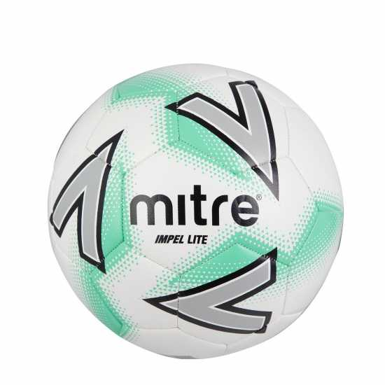 Mitre Футболна Топка Junior Lite Football White/Blue Футболни топки