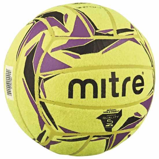 Mitre Футболна Топка Cyclone Indoor Football Yellow Футболни топки